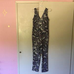 ASOS lavender floral jumpsuit